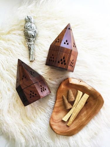 Crystal Rising - Wooden Insence Cone