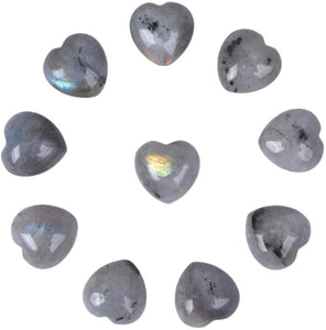 Labradorite Hearts 1 to 2 Inches