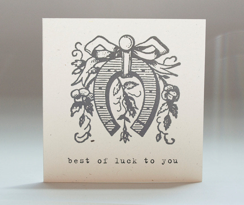 Tiramisu Paperie - Best of Luck Notecard