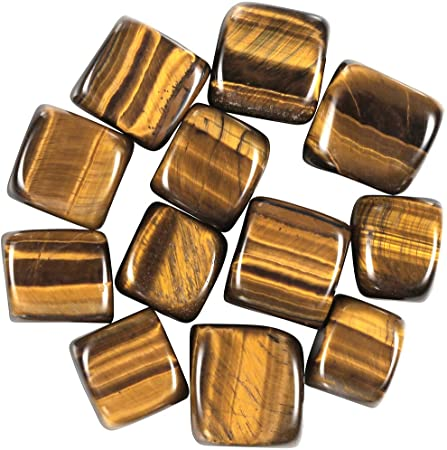 Natural Tiger's Eye Pocket Stone Cube