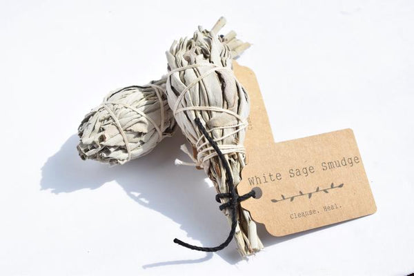 "White Sage Smudge - 4"" Bundle"