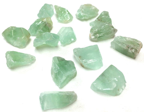 Green calcite pocket stone
