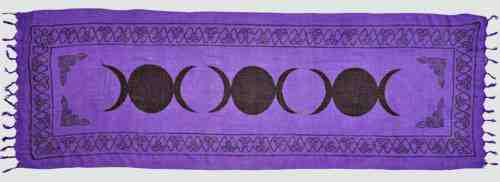 Triple Moon Purple Altar Cloth