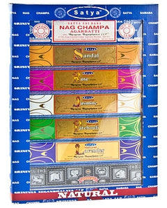 Satya 7 pack gift set Natural Incense Sticks