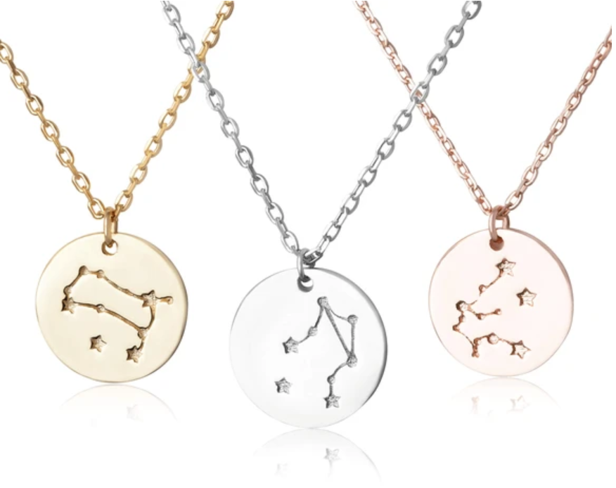 14 gf Zodiac Constellation pendant Necklace