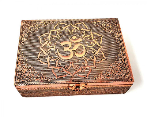 OM Carved Metal 5x7 Box