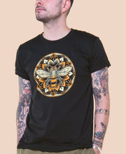 Load image into Gallery viewer, Bee Mandala Organic Men's Short Sleeve T-Shirt