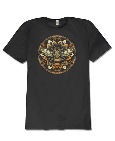 Bee Mandala Organic Men's Short Sleeve T-Shirt