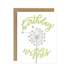 Birthday Wishes Eco friendly Blank Card