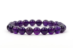 Natural Amethyst Beaded Healing Bracelet