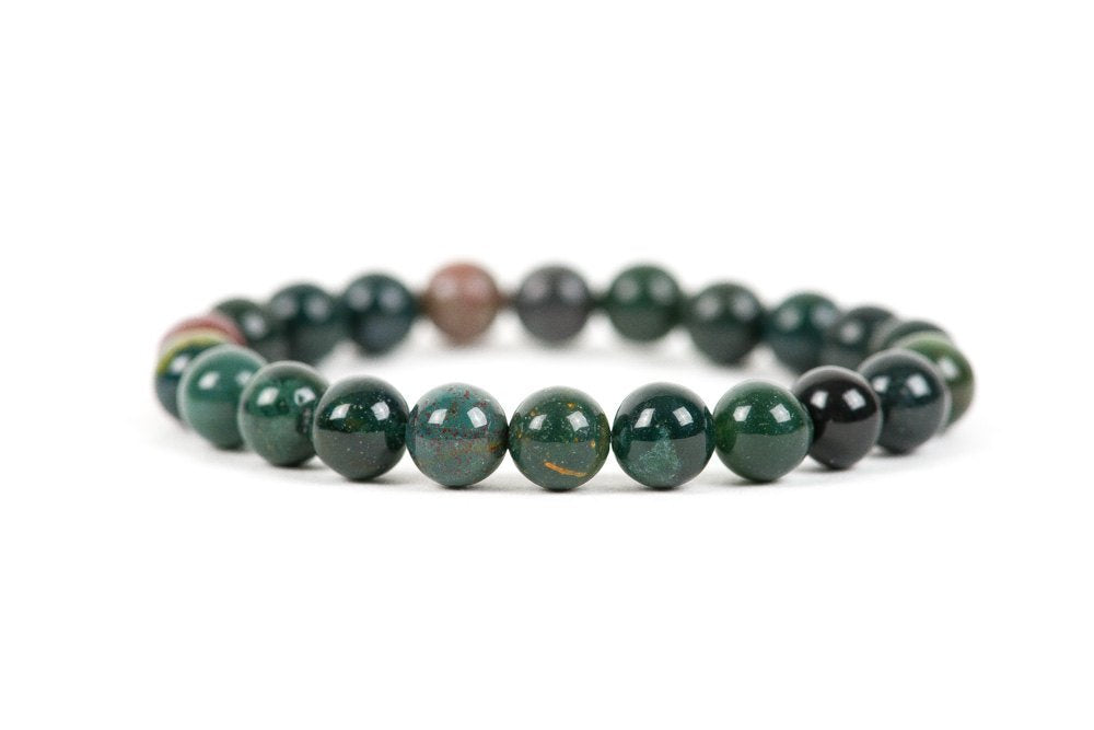 Natural Bloodstone Beaded Healing Bracelet