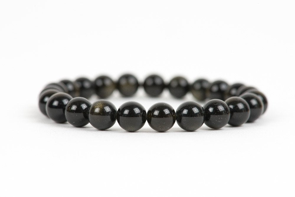 Natural Golden Obsidian Beaded Healing Bracelet
