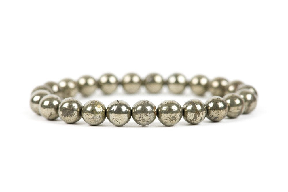 Natural Pyrite Beaded Healing Bracelet
