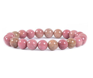 Natural Rhodochrosite Beaded Healing Bracelet