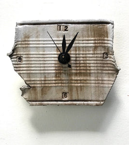 "TiqueTile ""Crushed Can"" 6 x 4 inch  clock"