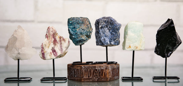 Mounted assorted gemstone Specimens