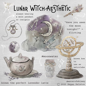 Lunar Witch Aesthetic Water of Whimsy Framed Art Prints