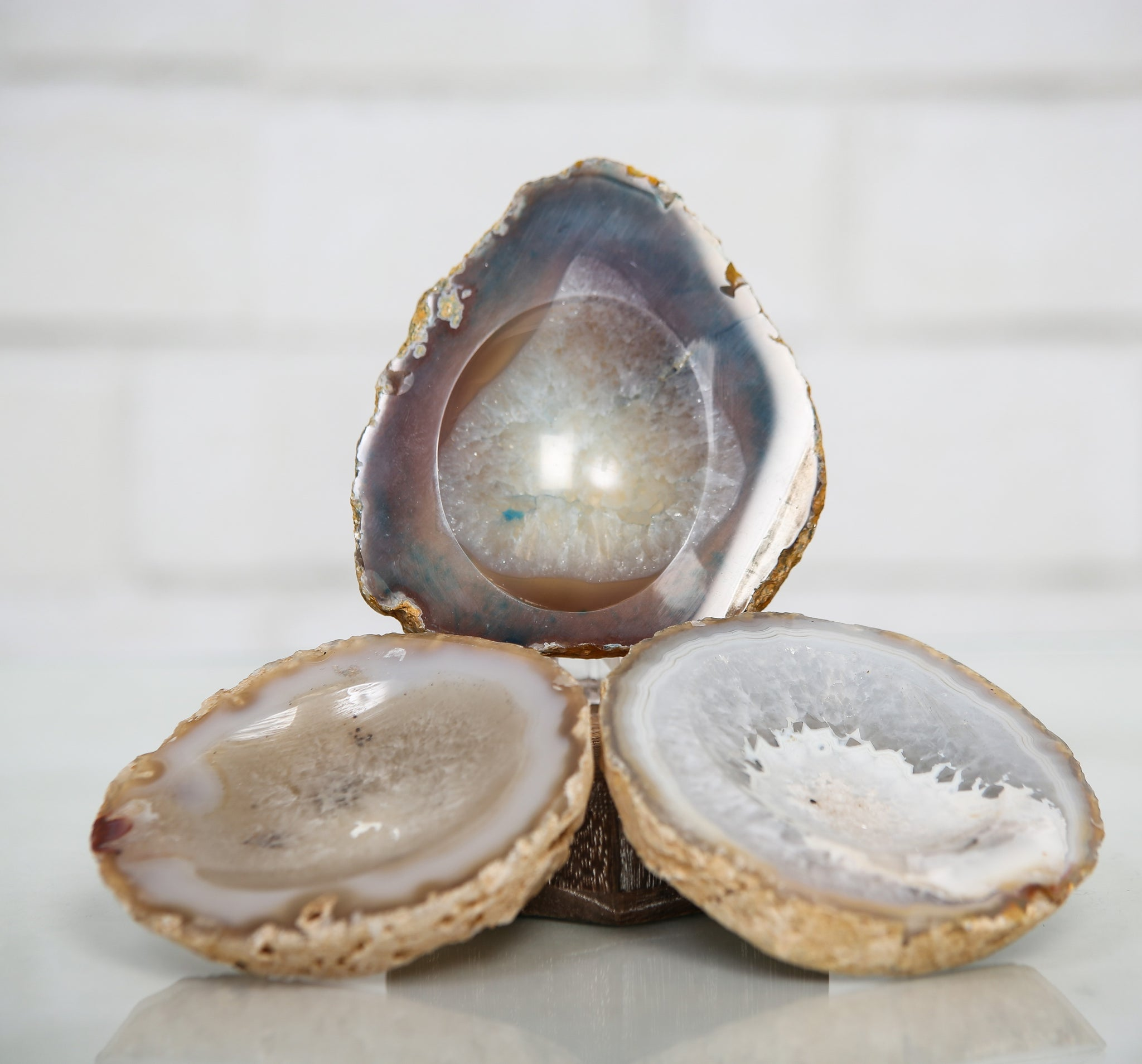 Crystal and Agate Bowls