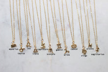 Load image into Gallery viewer, 14 gf Zodiac Petite pendant Necklace