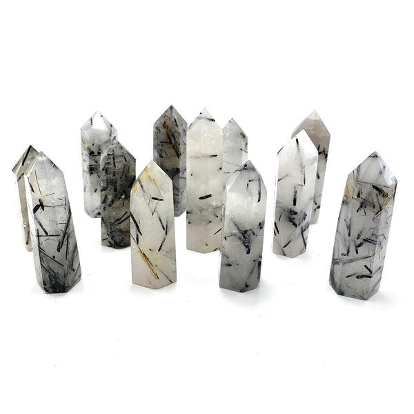 Black Tourmaline Quartz Tower