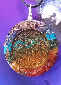 Powerful Orgone Flower of Life Pendant