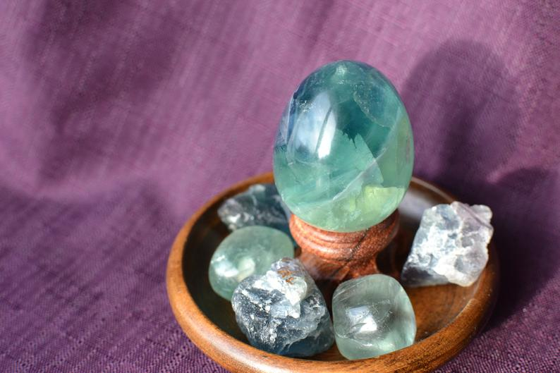 Green Flourite Mini Egg