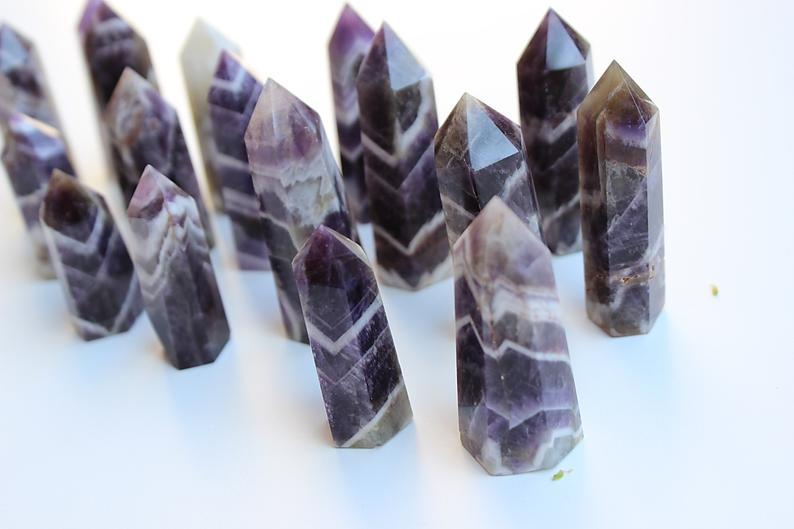 Mini Chevron Amethyst Tower