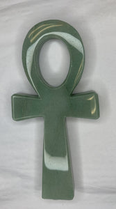 Green Aventurine Ankh Carving