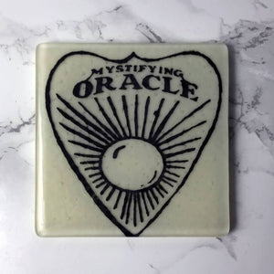 Witchy Ouija Planchette Single Coaster