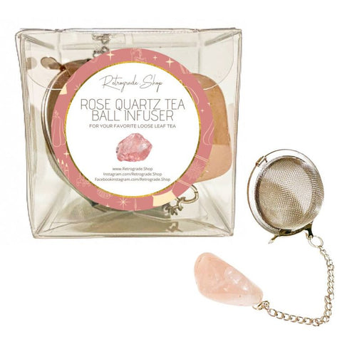 Rose Quartz Crystal Gemstone 2-Inch Tea Ball Infuser