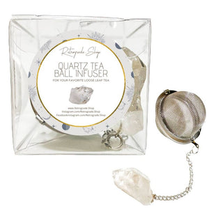 Clear Quartz Crystal Gemstone 2-Inch Tea Ball Infuser