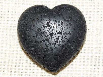 Black Lava Diffuser Heart