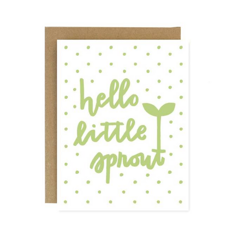 Hello Little Sprout Blank Card