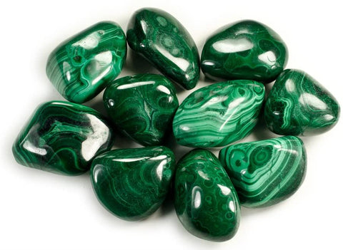 Malachite tumbled pocket stone