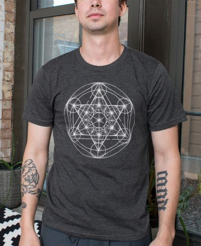 Metatron's Cube Organic Men's Short Sleeve T-Shirt