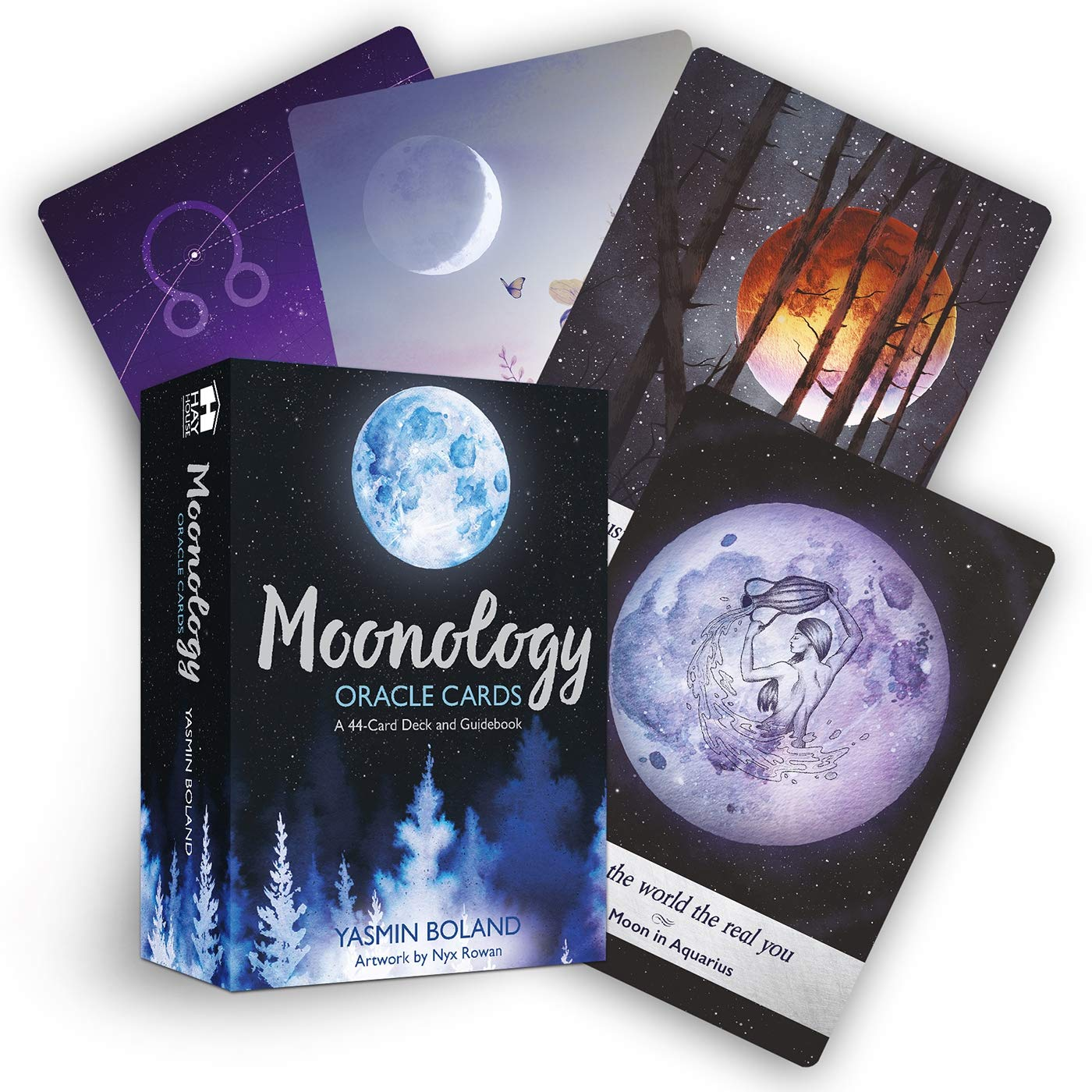 Moonology Oracle Cards 44 Card Deck & Book by Yasmin Boland