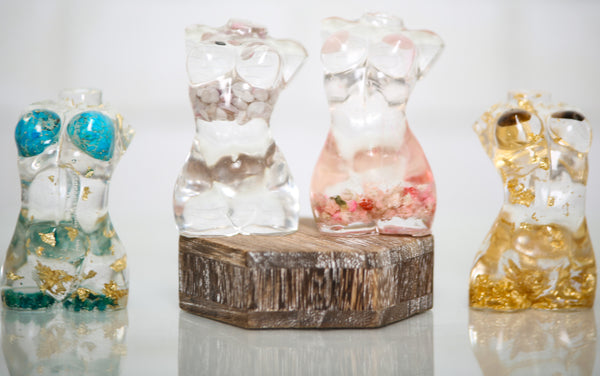 Resin Sculpture Goddess Female Form-Assorted Finishes