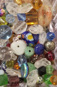 Random Color and Shaped Glass Bead