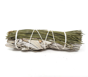 Pine and White Sage Smudge 4 inch Size