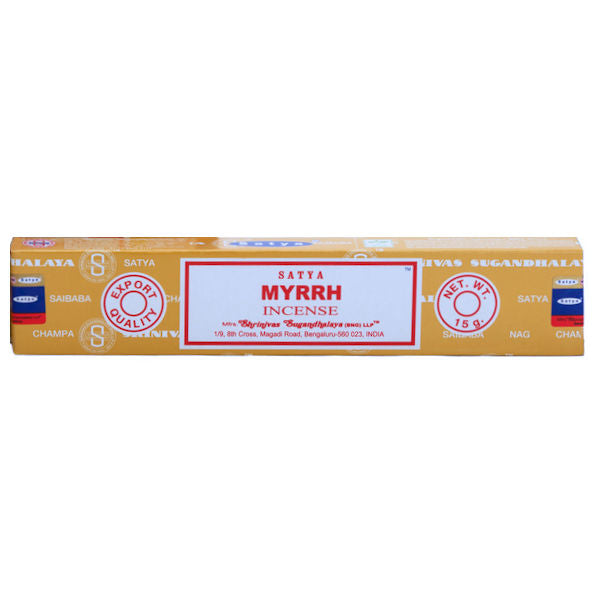 Satya Myrrh 15gm Incense Sticks