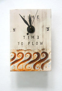 "TiqueTile ""Time To Flow"" 6 x 4 inch  clock"