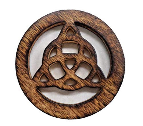 Wooden Triquetra 12 inch Wall Hanging