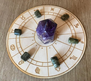 Zodiac Wheel Crystal Grid by Zen and Meow