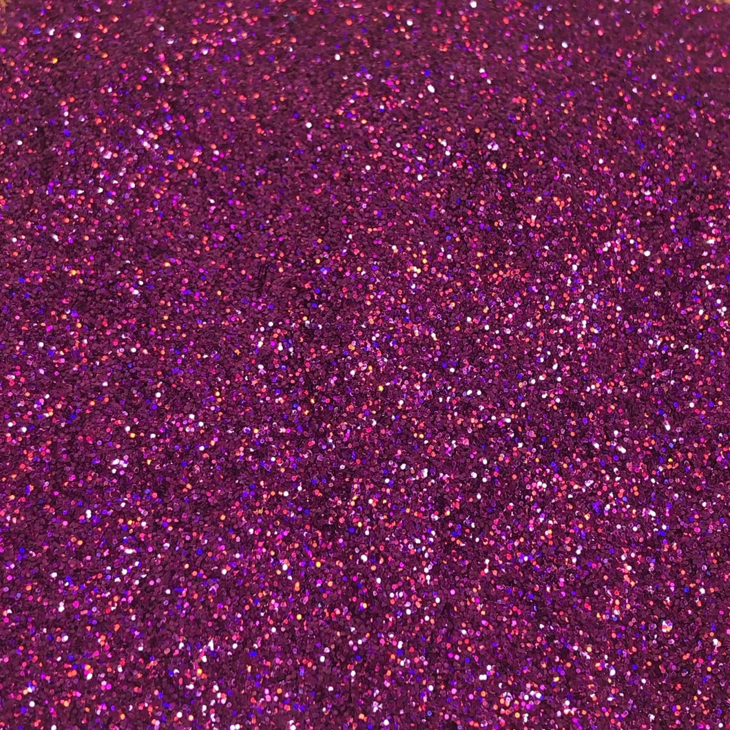 GLOW- Hot Pink Holographic Fine
