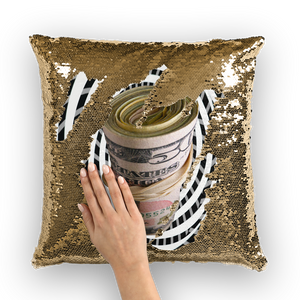 Just Do It. For Money Sequin Cushion Cover - Trend Talon