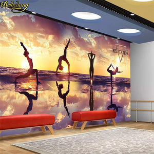 Custom Fitness Gym Yoga Studio Photo 3D Murals - Trend Talon