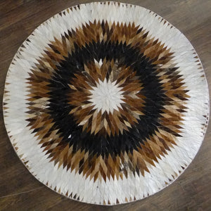 100% Natural Hand Knotted Cow Leather Yogi Mat - Trend Talon