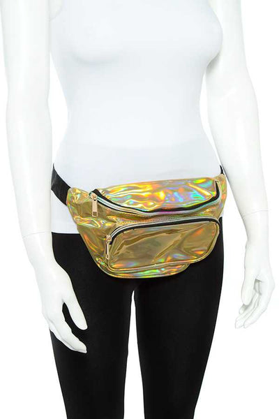 Women Holographic Glossy Fanny Pack