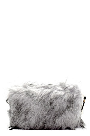 Faux Fur Clutch Cross Body so Trendy and Classy