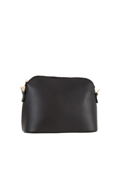 Faux Leather Cupola Cross Body Bag